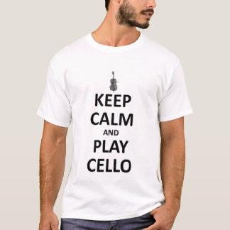 Behalten Sie Ruhe und Spiel Cello T-Shirt