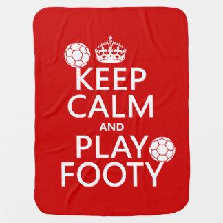 Behalten Sie Ruhe und Spiel Footy (Fußball) Kinderwagendecke