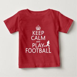 Behalten Sie Ruhe-und Spiel-Fußball Baby T-shirt