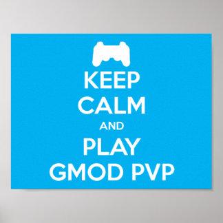 Behalten Sie Ruhe und Spiel Gmod PVP Plakat