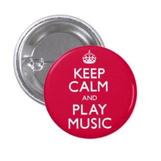 Behalten Sie Ruhe und Spiel-Musik (machen Sie) Anstecknadelbutton