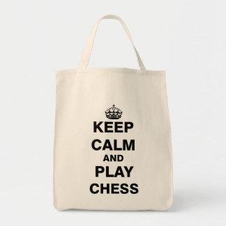 Behalten Sie Ruhe-und Spiel-Schach Einkaufstasche