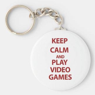 Behalten Sie Ruhe-und Spiel-Videospiele Standard Runder Schlüsselanhänger