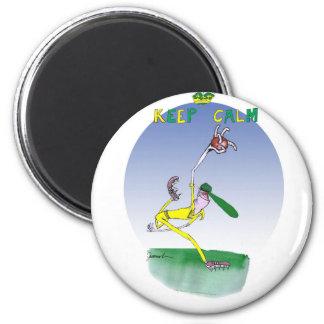 behalten Sie Ruhe und spinnen Sie diesen Ball, Runder Magnet 5,1 Cm