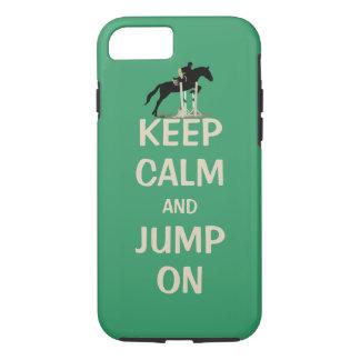 Behalten Sie Ruhe und springen Sie auf Pferd iPhone 8/7 Hülle