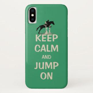 Behalten Sie Ruhe und springen Sie auf Pferd iPhone X Hülle