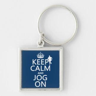 Behalten Sie Ruhe und Stoß an Schlüsselanhänger