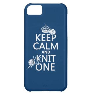 Behalten Sie Ruhe und Strick eine - alle Farben iPhone 5C Hülle