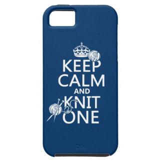 Behalten Sie Ruhe und Strick eine - alle Farben Schutzhülle Fürs iPhone 5