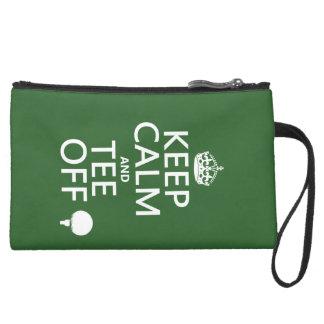 Behalten Sie Ruhe-und T-Stück weg - Golfgeschenke, Mini Velour Clutch