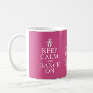 Behalten Sie Ruhe und tanzen Sie auf Ballerina-Sch Teetassen