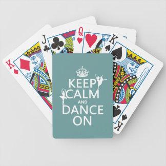Behalten Sie Ruhe und tanzen Sie auf (Ballett) Bicycle Spielkarten