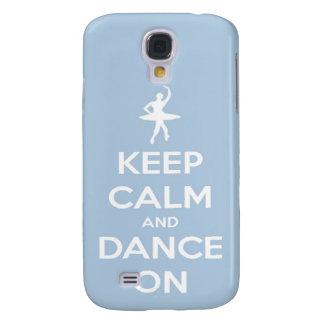 Behalten Sie Ruhe und tanzen Sie auf hellblaues Galaxy S4 Hülle