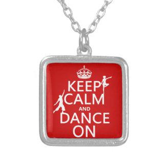Behalten Sie Ruhe und tanzen Sie auf (in allen Versilberte Kette