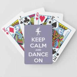 Behalten Sie Ruhe und tanzen Sie auf Lavendel Bicycle Spielkarten
