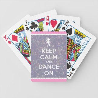 Behalten Sie Ruhe und tanzen Sie auf Lavendel Boke Bicycle Spielkarten