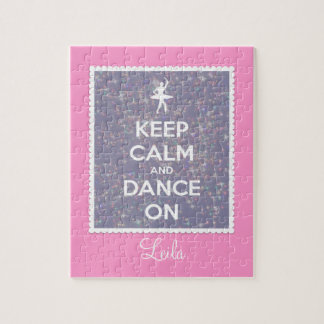 Behalten Sie Ruhe und tanzen Sie auf Lavendel Boke Puzzle