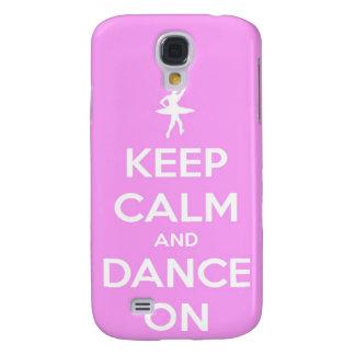 Behalten Sie Ruhe und tanzen Sie auf Rosa Galaxy S4 Hülle