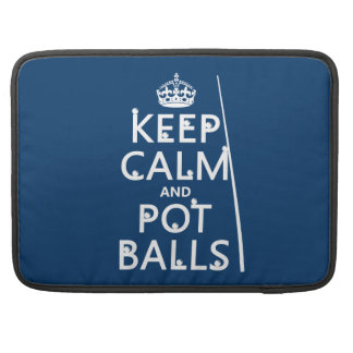 Behalten Sie Ruhe und Topf-Bälle (Snooker/Pool) MacBook Pro Sleeve