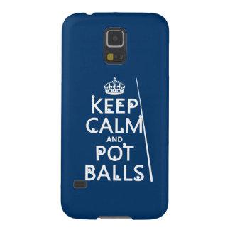 Behalten Sie Ruhe und Topf-Bälle (Snooker/Pool) Samsung S5 Cover