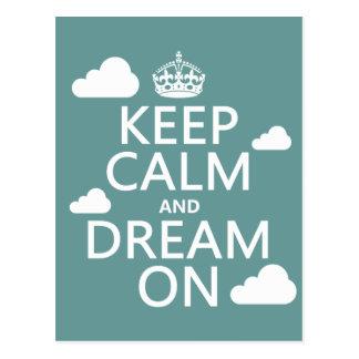 Behalten Sie Ruhe und Traum an (Wolken) - alle Postkarte