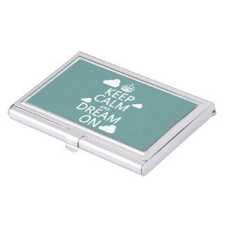 Behalten Sie Ruhe und Traum an (Wolken) - alle Visitenkarten Dose