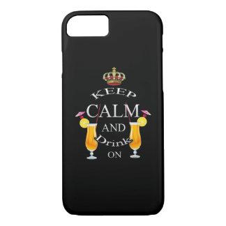 Behalten Sie Ruhe und trinken Sie auf Weiß iPhone 8/7 Hülle
