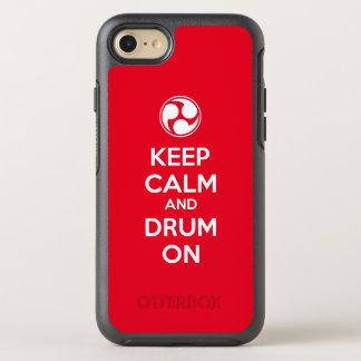 Behalten Sie Ruhe und Trommel an OtterBox Symmetry iPhone 8/7 Hülle