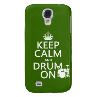 Behalten Sie Ruhe und Trommel auf (irgendeine Galaxy S4 Hülle