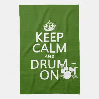 Behalten Sie Ruhe und Trommel auf (irgendeine Handtuch