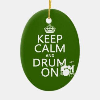 Behalten Sie Ruhe und Trommel auf (irgendeine Keramik Ornament