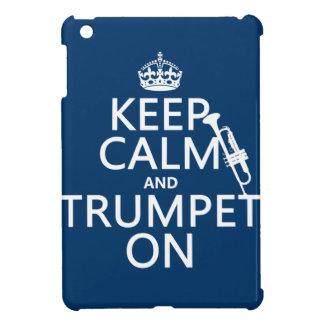 Behalten Sie Ruhe und Trompete auf (irgendeine iPad Mini Hülle