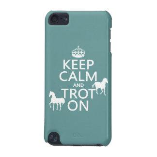 Behalten Sie Ruhe und Trot an - Pferde - alle iPod Touch 5G Hülle