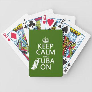 Behalten Sie Ruhe und Tuba auf (irgendeine Bicycle Spielkarten