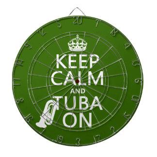 Behalten Sie Ruhe und Tuba auf (irgendeine Dartscheibe