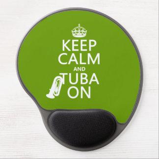 Behalten Sie Ruhe und Tuba auf (irgendeine Gel Mousepad