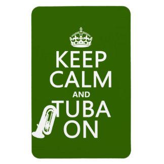Behalten Sie Ruhe und Tuba auf (irgendeine Magnet