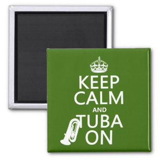 Behalten Sie Ruhe und Tuba auf (irgendeine Quadratischer Magnet