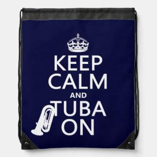 Behalten Sie Ruhe und Tuba auf (irgendeine Sportbeutel