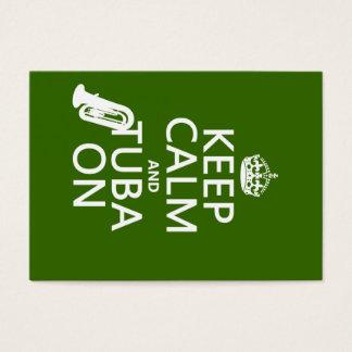 Behalten Sie Ruhe und Tuba auf (irgendeine Visitenkarte