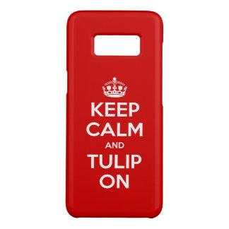 Behalten Sie Ruhe und Tulpe auf Case-Mate Samsung Galaxy S8 Hülle