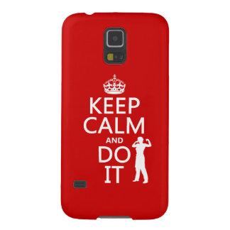 Behalten Sie Ruhe und tun Sie sie (irgendeine Galaxy S5 Cover