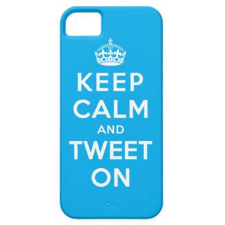 Behalten Sie Ruhe und tweeten Sie an Schutzhülle Fürs iPhone 5