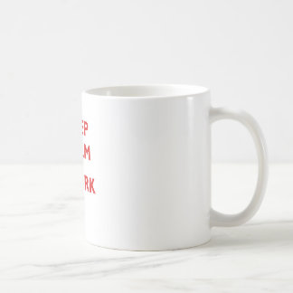 Behalten Sie Ruhe und Twerk es Kaffeetasse