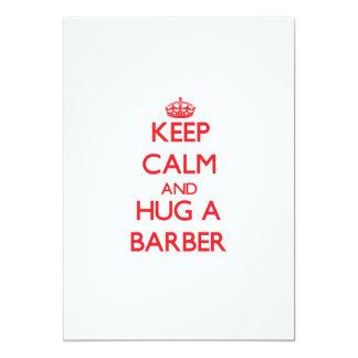 Behalten Sie Ruhe und umarmen Sie einen Friseur Personalisierte Ankündigungskarten