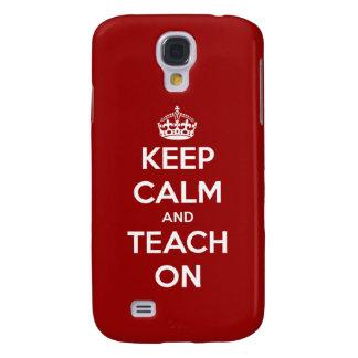 Behalten Sie Ruhe und unterrichten Sie auf Rot Galaxy S4 Hülle