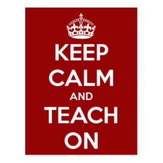 Behalten Sie Ruhe und unterrichten Sie auf Rot