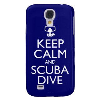 Behalten Sie Ruhe und Unterwasseratemgerät-Tauchen Galaxy S4 Hülle
