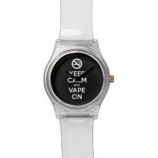 Behalten Sie Ruhe und Vape auf motivierend ~ Armbanduhr