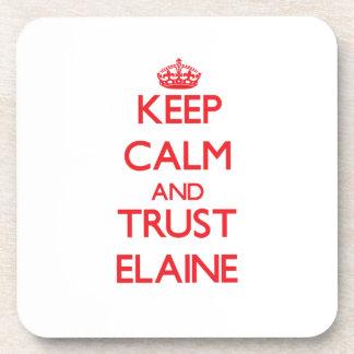 Behalten Sie Ruhe und VERTRAUEN Elaine Getränke Untersetzer